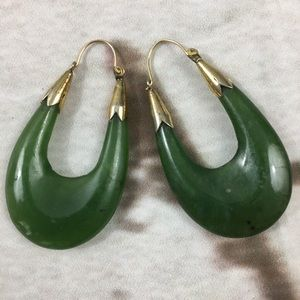 🌺Genuine Retro Real Jade Stone Ear rings